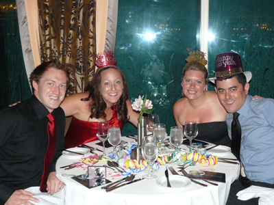 Matt, Bex, Michelle and I at our New Years Eve dinner on the Royal Carribean Cruise Ship