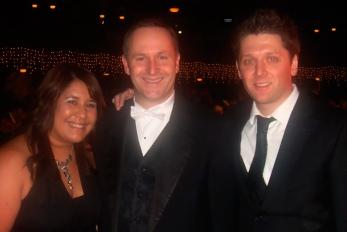 Simon Slade with John Key