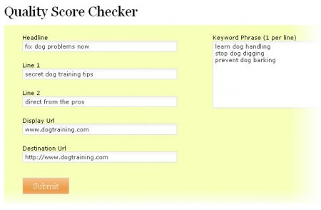 Quality Score Checker