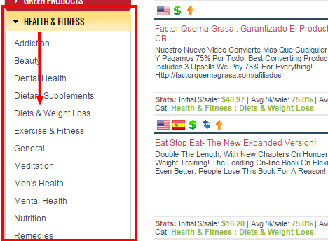 Diets & Weight Loss ClickBank