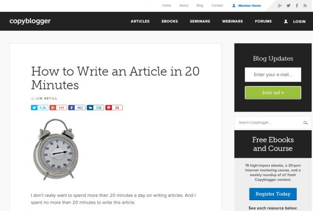 Copyblogger article