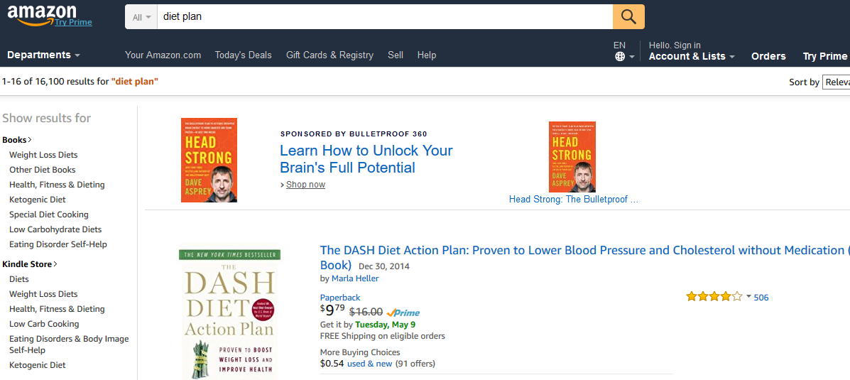 """Amazon results for """"Diet Plan"""""""