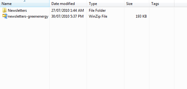 Extracted files