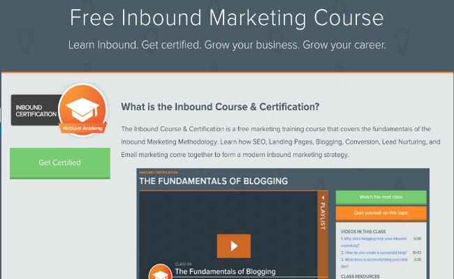 hubspot free course