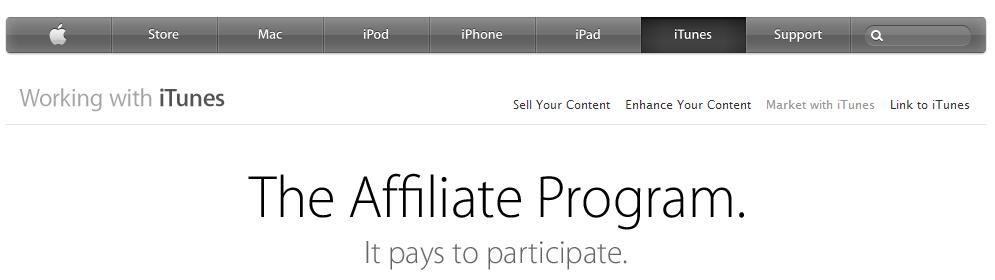 iTunes - MP3 Download Affiliate Program