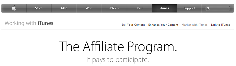 iTunes - MP3 Download Affiliate Program
