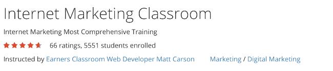internet marketing classroom