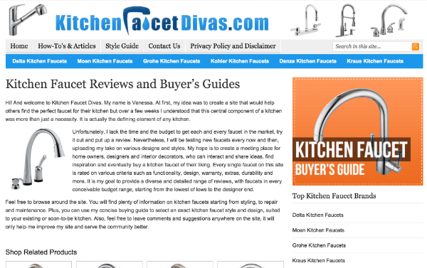kitchen faucet divas affiliate site