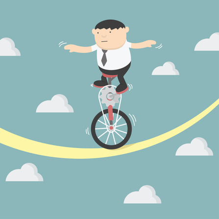 Unicycle tightrope