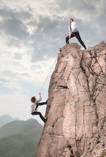 climbing mountain