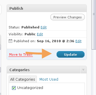 WordPress Post Update