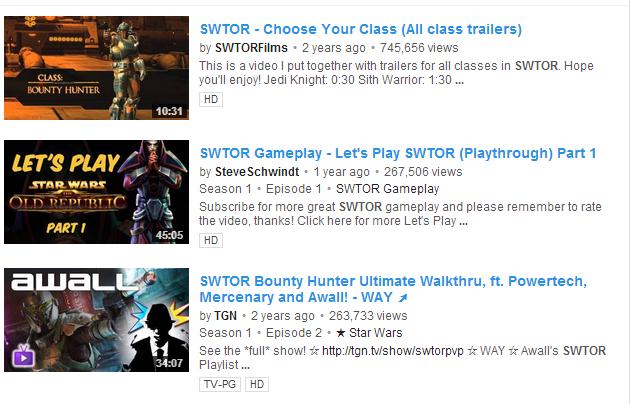 swtor youtube