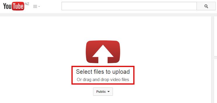 upload video