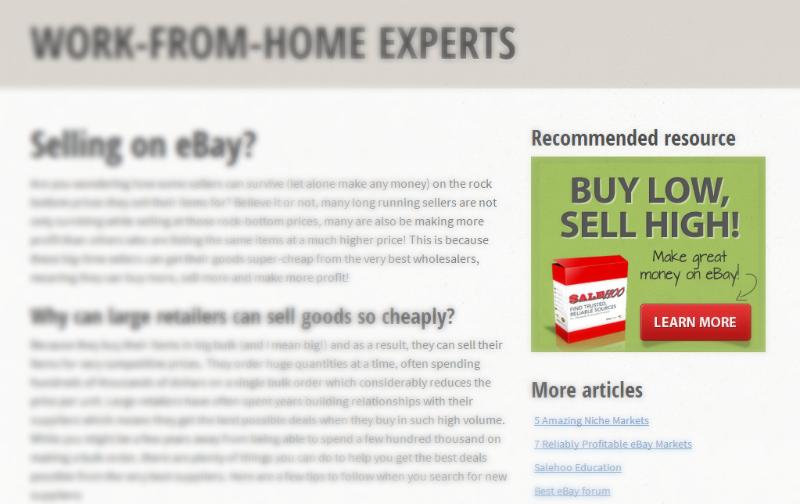 vendors website