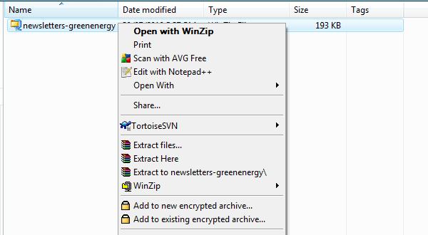 Open WinZip