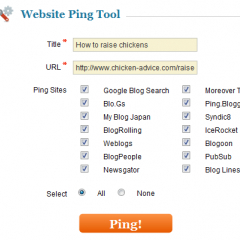 Why You Should Ping Your Website and How to Do It!