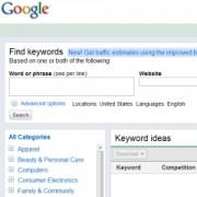 New Google Keyword Tool