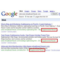 What are Google supplemental results? How to get in and out of Google Hell.